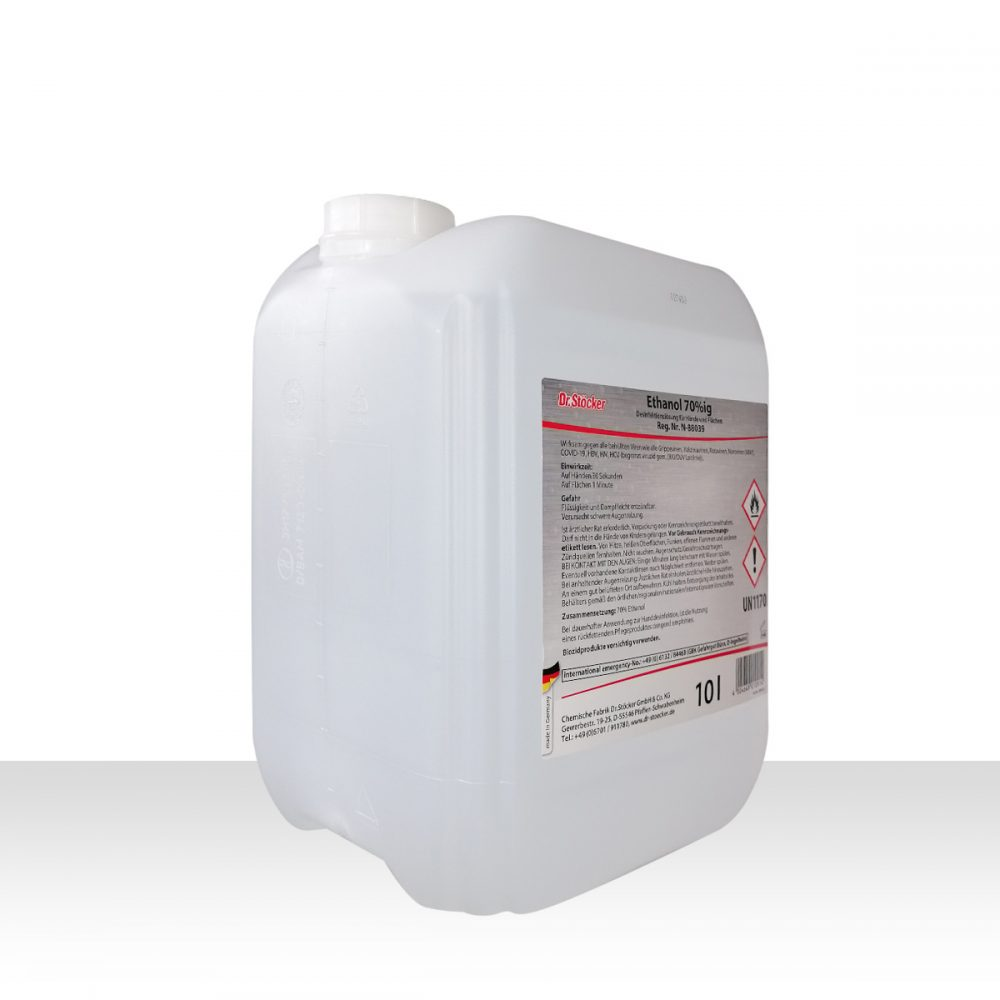 Dr. Stöcker Ethanol 70%ig Desinfektionslösung für Hände und Flächen